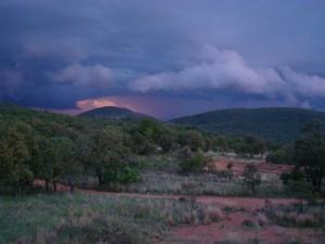 Storm over Thaba Moriri
